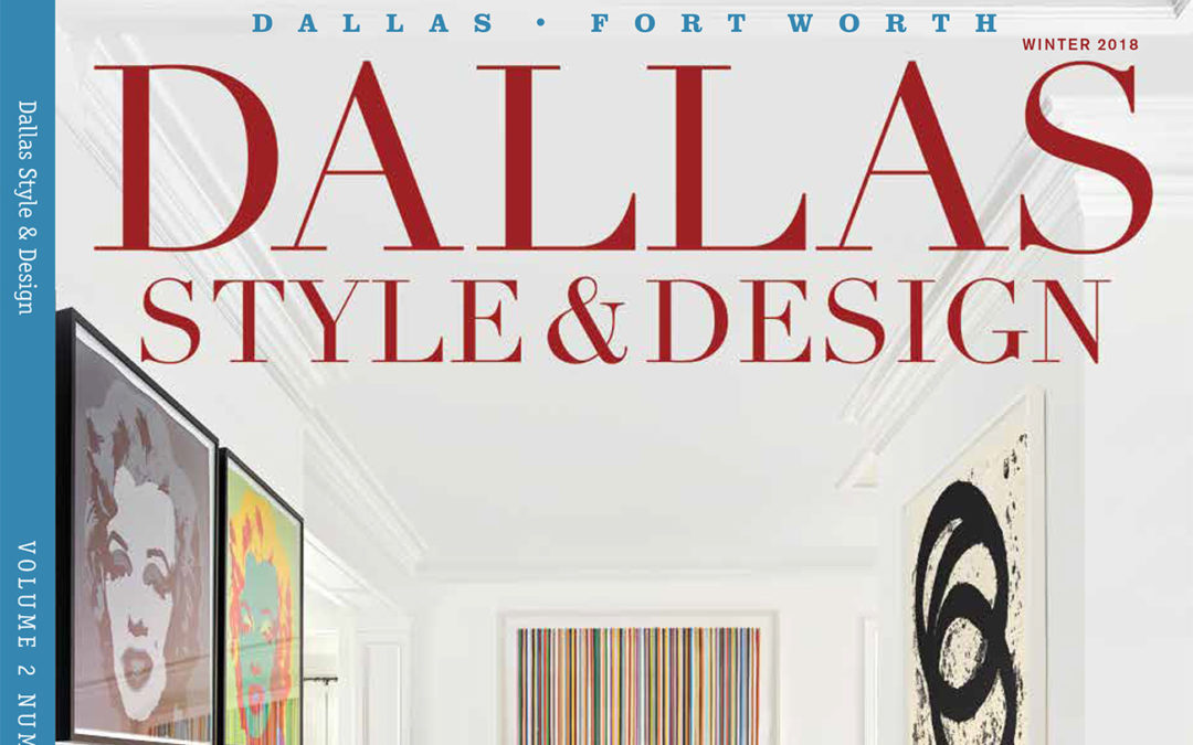 Holger Obenaus Shoots the Cover of Dallas Style and Design Winter 2018