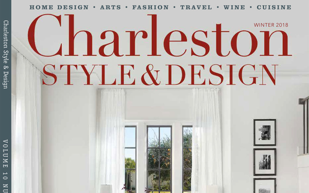 Holger Obenaus Shoots the Cover of Charleston Style and Design Winter 2018